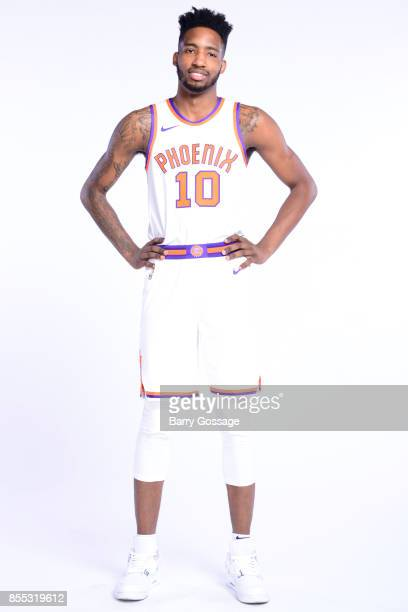 Derrick Jones Jr #10 of the Phoenix Suns poses for a portrait at the Talking Stick Resort Arena in Phoenix Arizona NOTE TO USER User expressly...
