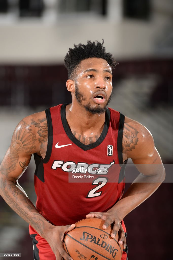 Derrick Jones Jr. #2 of the Sioux Falls Skyforce handles the ball during the NBA G-League Showcase Game 22 between the Sioux Falls Skyforce and the Raptors 905 on January 13, 2018 at the Hershey Centre in Mississauga, Ontario Canada.