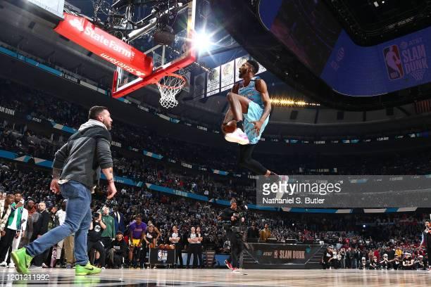 Derrick Jones Jr #5 of the Miami Heat dunks the ball during the 2020 NBA AllStar ATT Slam Dunk on February 15 2020 at the United Center in Chicago...