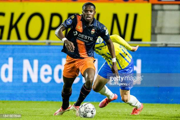 Derrick Kohn of Willem II during the Dutch Eredivisie match between RKC Waalwijk and Willem II at Mandemakers Stadion on September 21, 2021 in...