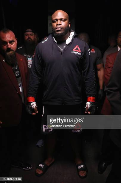 Derrick Lewis enters the arena to take on Alexander Volkov of Russia in their heavyweight bout during the UFC 229 event inside TMobile Arena on...