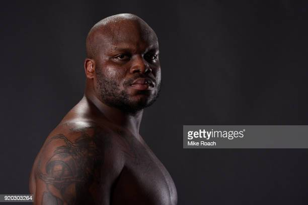 Derrick Lewis poses for a post fight portrait backstage during the UFC Fight Night event at Frank Erwin Center on February 18 2018 in Austin Texas