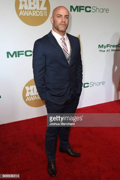 Derrick Pierce attends the 2018 XBIZ Awards on January 18 2018 in Los Angeles California