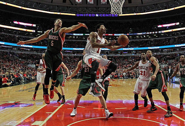 Derrick Rose 2015 Playoffs Vs Bucks