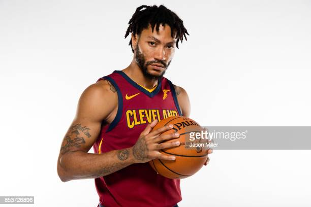 Derrick Rose of the Cleveland Cavaliers poses during media day at Cleveland Clinic Courts on September 25 2017 in Independence Ohio NOTE TO USER User...