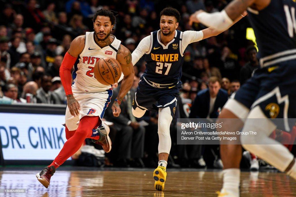 DENVER NUGGETS VS DETROIT PISTONS, NBA REGULAR SEASON : News Photo