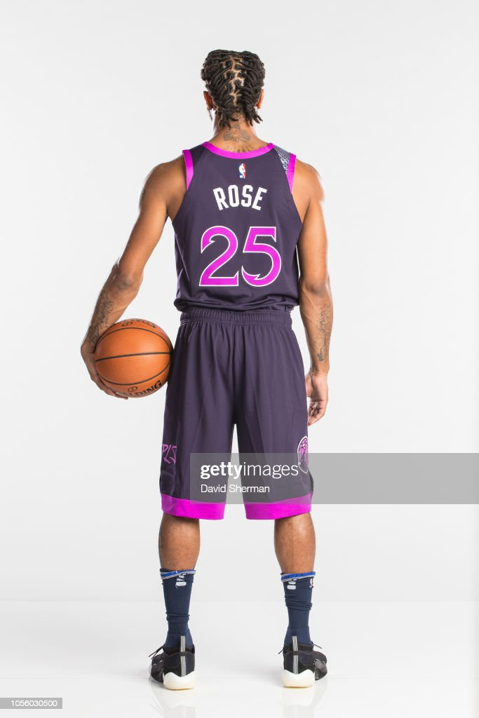 da93a34838b Derrick Rose of the Minnesota Timberwolves poses for a portrait in ...