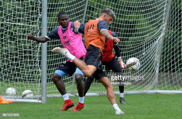 Derrick Tshimanga with Esteban Casagolda during the OH Leuven PreSeason Training Camp on July 12 2018 in Maribor Slovenia