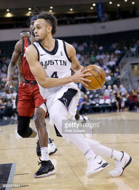 Derrick White of the Austin Spurs handles the ball against the Sioux Falls Skyforce on March 10 2018 during the NBA GLeague at the HEB Center At...