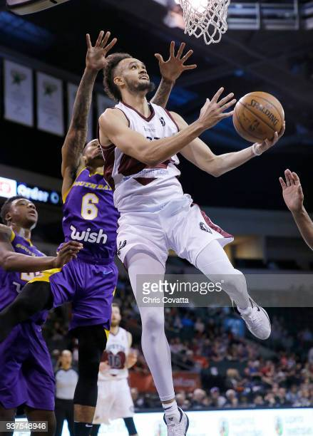 Derrick White of the Austin Spurs handles the ball against the South Bay Lakers during the NBA GLeague on March 24 2018 at the HEB Center At Cedar...