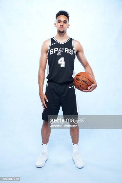 Derrick White of the San Antonio Spurs poses for a photo during the 2017 NBA Rookie Shoot on August 11 2017 at the Madison Square Garden Training...