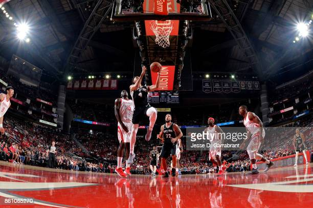 Derrick White of the San Antonio Spurs shoots the ball during the preseason game against the Houston Rockets on October 13 2017 at Toyota Center in...