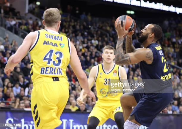 Derrick Williams, #21 of Fenerbahce Beko Istanbul in action during the 2019/2020 Turkish Airlines EuroLeague Regular Season Round 22 match between...