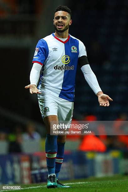Derrick Williams of Blackburn Rovers during the Sky Bet Championship match between Blackburn Rovers and Huddersfield Town at Ewood Park on December 3...