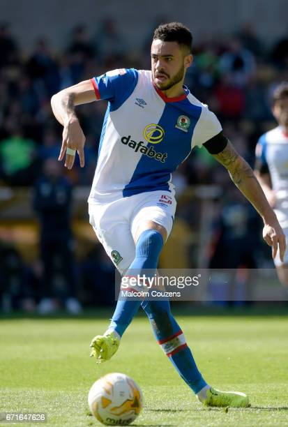 Derrick Williams of Blackburn Rovers during the Sky Bet Championship match between Wolverhampton Wanderers and Blackburn Rovers at Molineux on April...