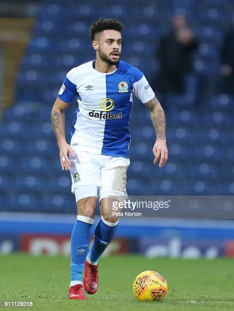 Derrick Williams of Blackburn Rovers in action during the Sky Bet League One match between Blackburn Rovers and Northampton Town at Ewood Park on...