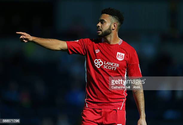Derrick Williams of Bristol City during the EFL Cup match between Wycombe Wanderers and Bristol City at Adams Park on August 8 2016 in High Wycombe...
