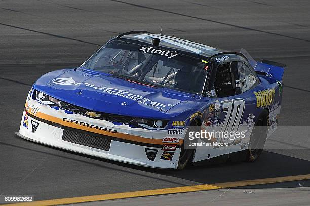 Derrike Cope driver of the Ehydrate / Buddy's Home Furnishings Chevrolet on track during practice for the NASCAR XFINITY Series VysitMyrtleBeachcom...