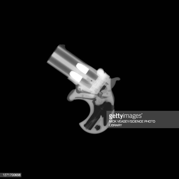 derringer gun, x-ray - radiogram photographic image stock pictures, royalty-free photos & images