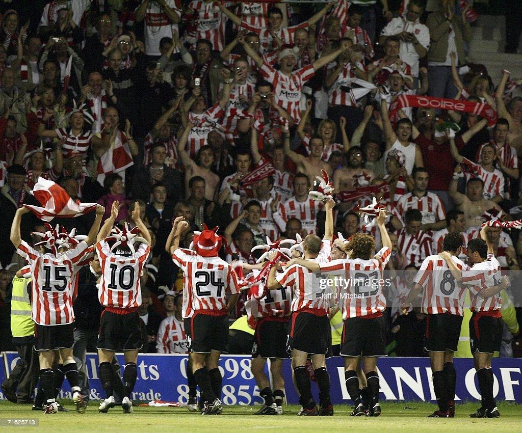 UEFA Cup - Gretna v Derry City : News Photo