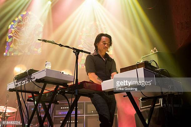 Derry deBorja of Jason Isbell and The 400 Unit performs at The Joy Theater on October 23 2016 in New Orleans Louisiana