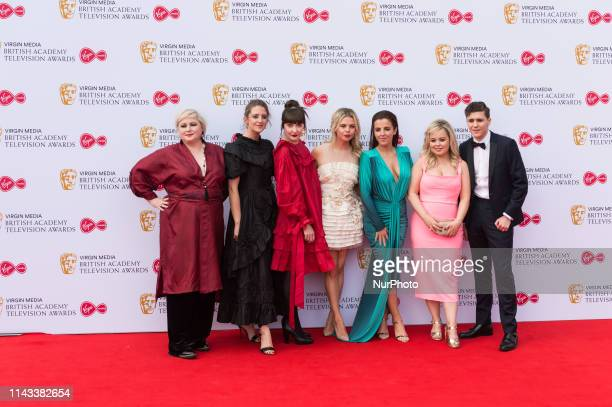 Derry Girls cast Siobhan McSweeney Louisa Harland Kathy Kiera Clarke SaoirseMonica Jackson JamieLee O'Donnell Nicola Coughlan and Dylan Llewellyn...