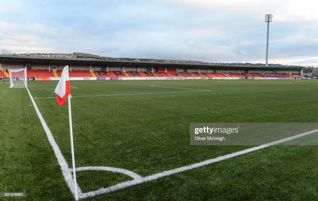 Derry , United Kingdom - 12 March 2018; A general view of the newly refurbished Brandywell Stadium prior to the SSE Airtricity League Premier Division match between Derry City and Limerick at Brandywell Stadium, in Derry.