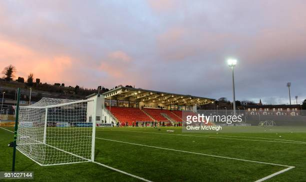 Derry United Kingdom 12 March 2018 A general view of the newly refurbished Brandywell Stadium prior to the SSE Airtricity League Premier Division...