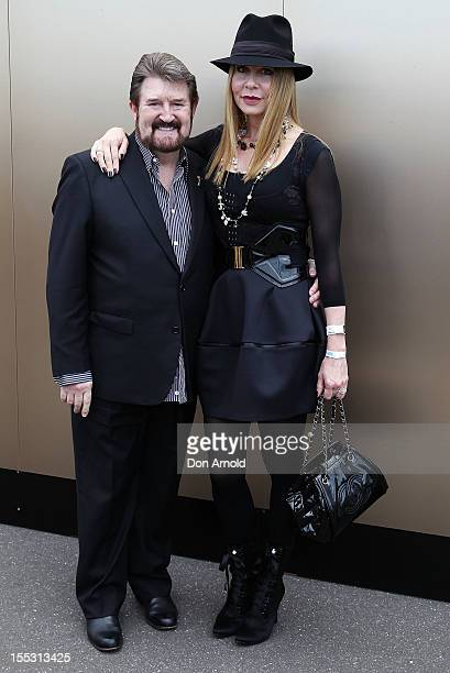 Derryn Hinch and Chanel Hinch Derby Day at Flemington Racecourse on November 3 2012 in Melbourne Australia