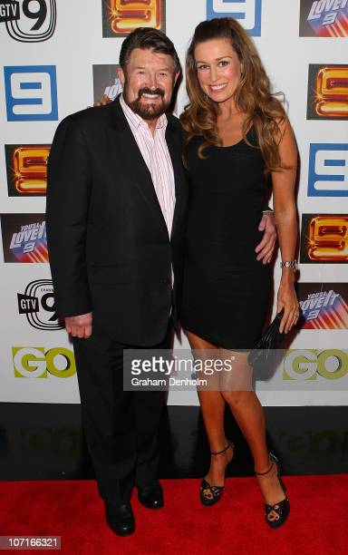 Derryn Hinch and Suzie Wilks arrive at the live production of 'Lights Camera Party' celebrating Channel Nine's Studio City on November 27 2010 in...