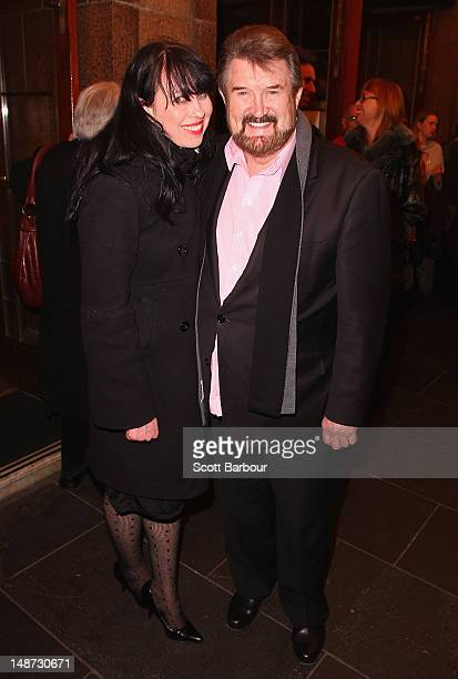 Derryn Hinch arrives at the opening night of Barry Humphries' Eat Pray Laugh show show at Her Majestys Theatre on July 19 2012 in Melbourne Australia