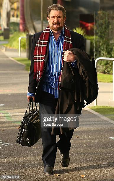 Derryn Hinch of Derryn Hinch's Justice Party arrives to begin campaigning on June 3 2016 in Melbourne Australia The broadcaster turned politician has...