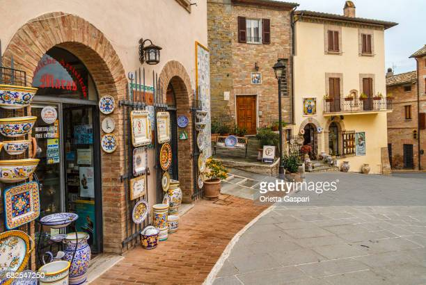 deruta old town, umbria, italy - umbria stock pictures, royalty-free photos & images