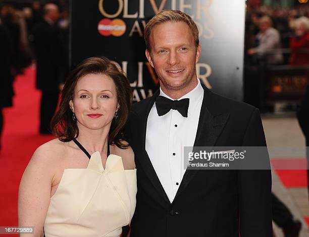 Dervia Kirwan and Rupert Perry-Jones attend The Laurence Olivier Awards at The Royal Opera House on April 28, 2013 sLondon, England.