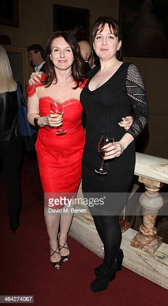 "Dervla Kirwan and Josie Rourke attends an after party following the press night performance of ""The Weir"" at the Horseguards Hotel on January 21,..."