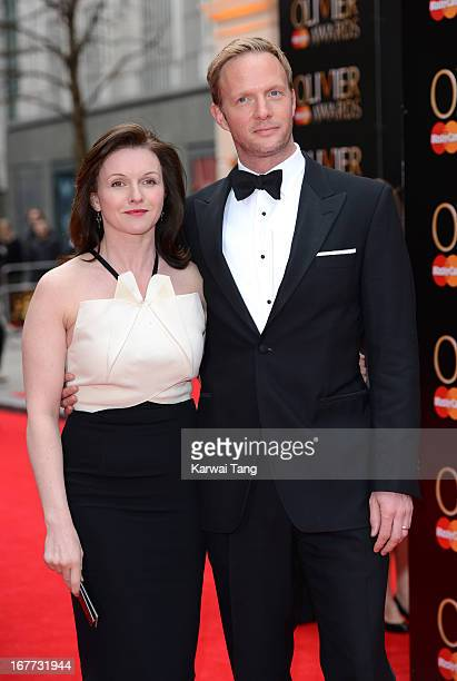 Dervla Kirwan and Rupert Penry Jones attends The Laurence Olivier Awards at The Royal Opera House on April 28 2013 in London England