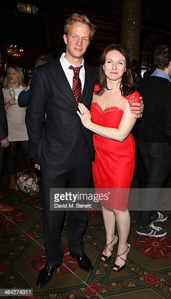 "Dervla Kirwan and Rupert Penry-Jones attend an after party following the press night performance of ""The Weir"" at the Horseguards Hotel on January..."