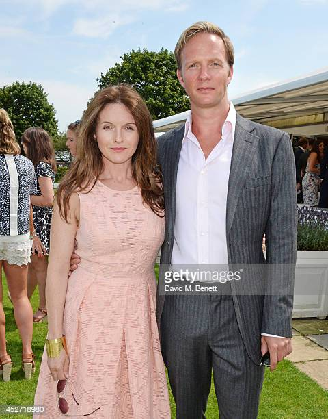 Dervla Kirwan and Rupert Penry-Jones attend Audi International at Guards Polo Club, near Windsor, to support England as it faces Argentina for the...
