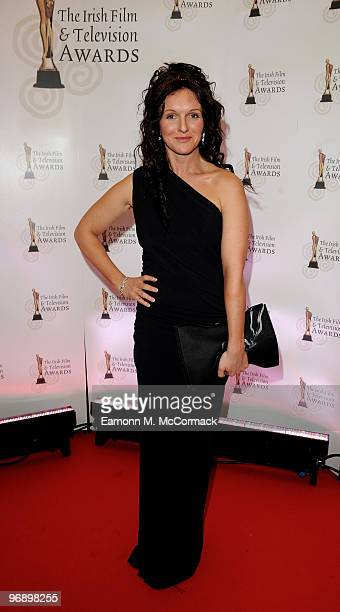 Dervla Kirwan arrives at The 7th Annual Irish Film And Television Awards, at the Burlington Hotel on February 20, 2010 in Dublin, Ireland.