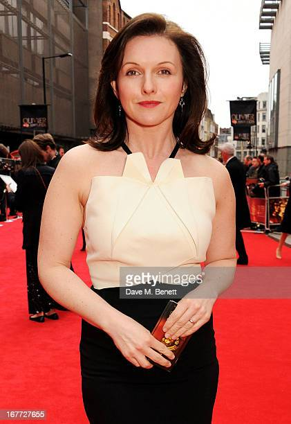 Dervla Kirwan arrives at The Laurence Olivier Awards 2013 at The Royal Opera House on April 28, 2013 in London, England.