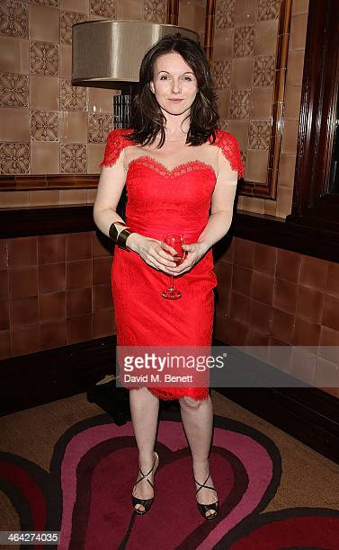 "Dervla Kirwan attends an after party following the press night performance of ""The Weir"" at the Horseguards Hotel on January 21, 2014 in London,..."