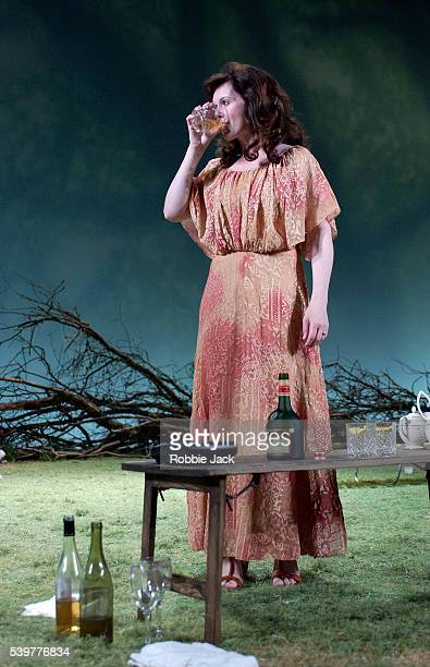 Dervla Kirwan in the production Aristocrats at the National Theater in London.