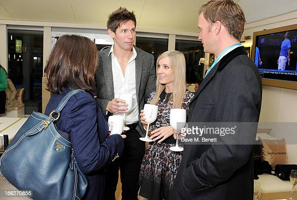 Dervla Kirwan James Cannon Joanne Froggatt and Rupert PenryJones attend the Moet Chandon VIP Suite during day eight of the ATP World Finals at the O2...