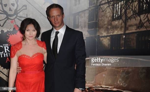 Dervla Kirwin and Rupert Penry Jones attend the Specsavers Crime Thriller Awards at The Grosvenor House Hotel on October 24 2013 in London England