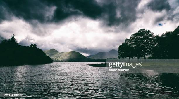 derwent water in the english lake district - derwent water stock photos and pictures