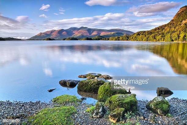 derwent water, lake district national park, cumbria, england, united kingdom, europe - derwent water - fotografias e filmes do acervo