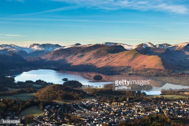 derwentwater and catbells - lake district - keswick stock photos and pictures