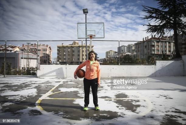 Derya Turan who is a physical education teacher and struggles with breast cancer poses for a photo in Ankara Turkey on January 25 2018 Patients...