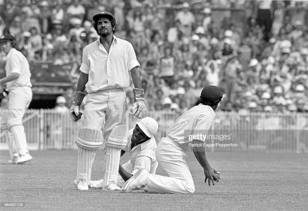 Deryck Murray, Lawrence Rowe and Alvin Kallicharran of West Indies ...