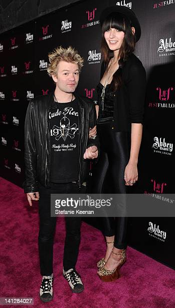 Deryck Whibley and Ariana Cooper attend Justfabulous Celebrates The Launch Of Abbey Dawn By Avril Lavigne on March 13 2012 in Los Angeles California